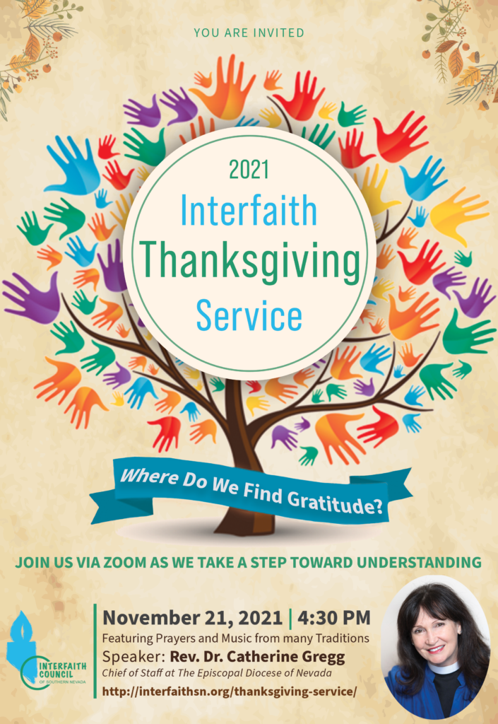 Interfaith Thanksgiving 2021 flyer