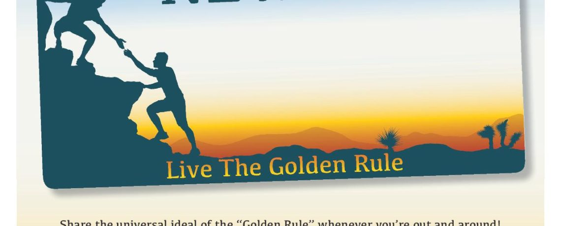 The Golden Rule Nevada License Plate
